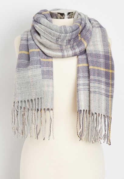 tartan plaid oblong scarf