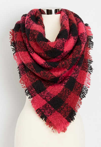 buffalo plaid square scarf