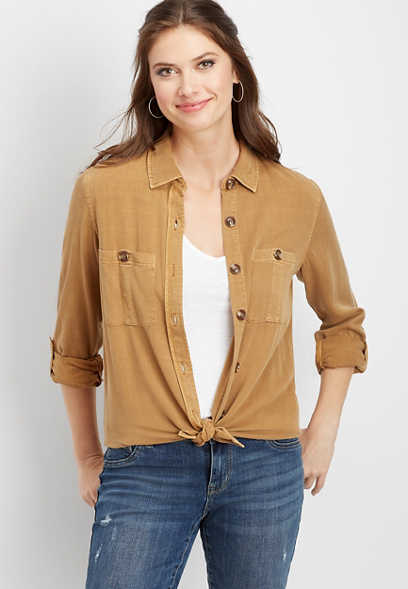 utility button down shirt