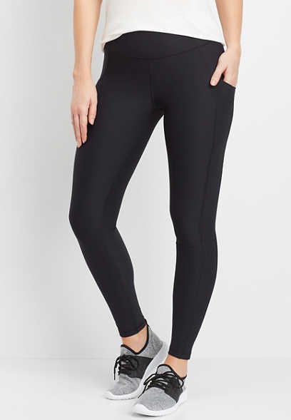 side pocket full length active legging