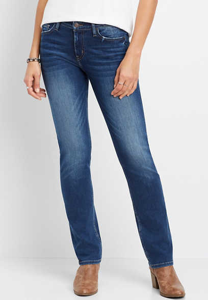 Flying Monkey™ Dark Stretch Straight Leg Jean