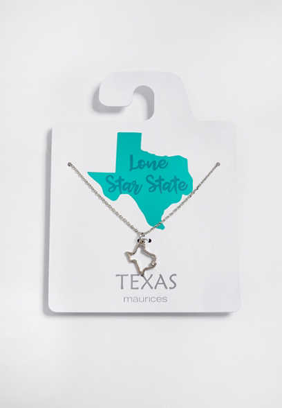 Dainty Texas State Necklace