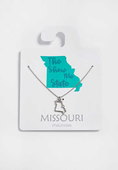 Dainty Missouri State Necklace