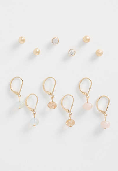 6 Piece Mixed Earring Set