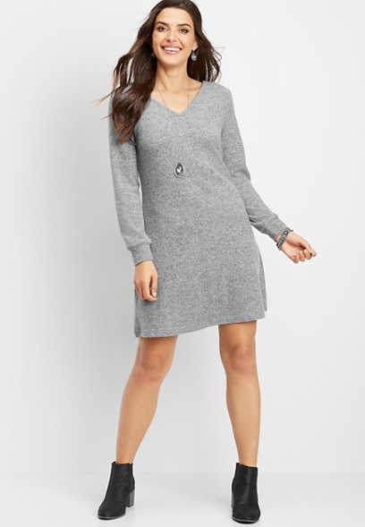 bow back sweater dress