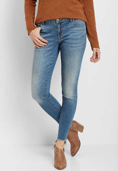 DenimFlex™ medium wash stem hem jegging