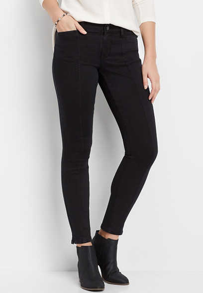 DenimFlex™ black front seam jegging