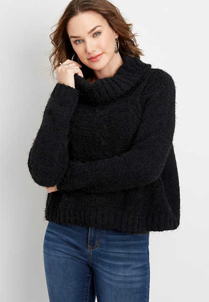 oversized cowl neck pullover