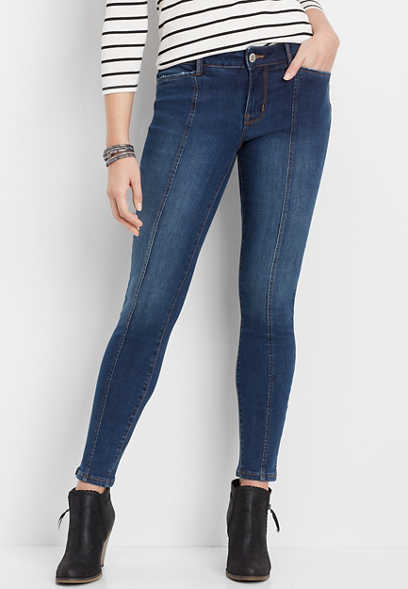DenimFlex™ Medium Wash Front Seam Jegging