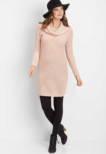 marilyn neck sweater dress