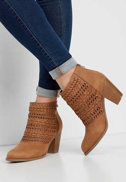 Nola Braid Stitch Ankle Bootie