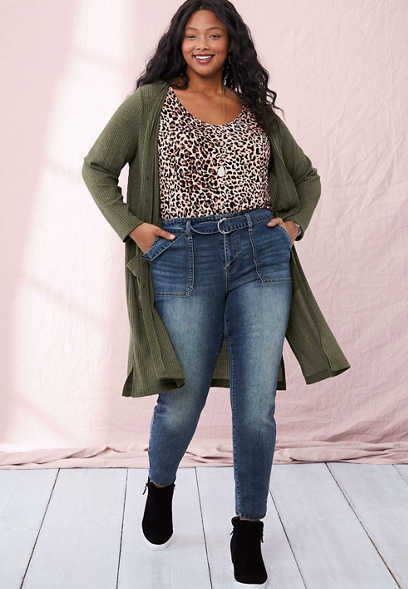 Plus Size DenimFlex™ High Rise Belted Utility Jegging
