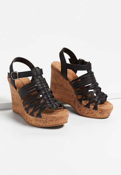 Hadley strappy wedge