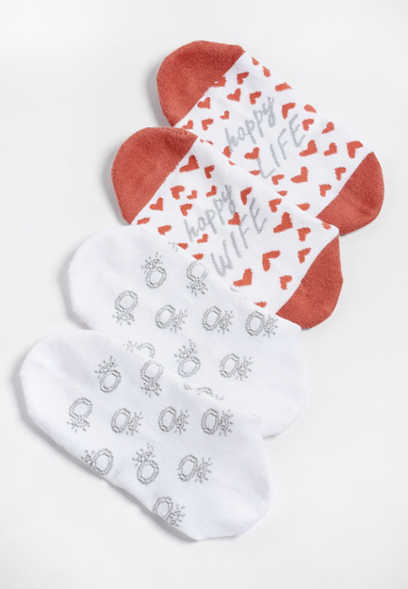 2 pack happy wife ankle socks