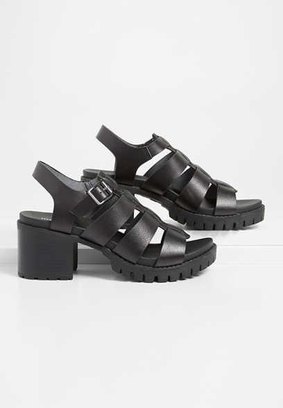 Heidi strappy block heel sandal