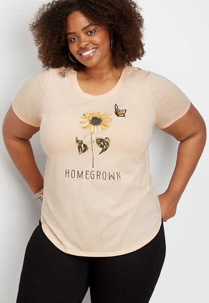 plus size homegrown graphic tee