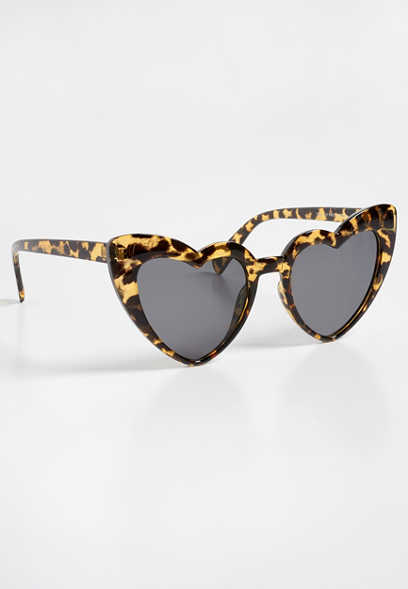heart shape leopard sunglasses