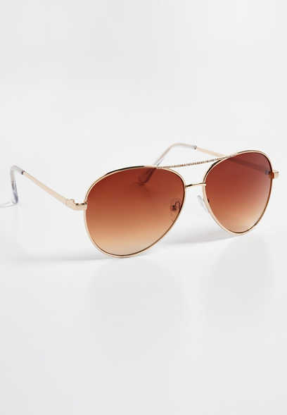 embellished aviator sunglasses