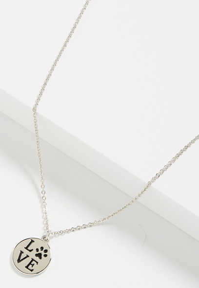 dainty love paw necklace