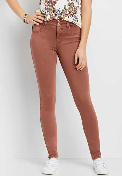 DenimFlex™ High Rise Terra Cota Color Jegging