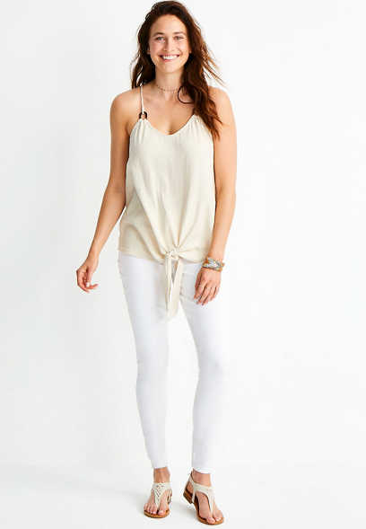 DenimFlex™ High Rise White Color Jegging