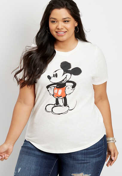 plus size Disney Mickey graphic tee