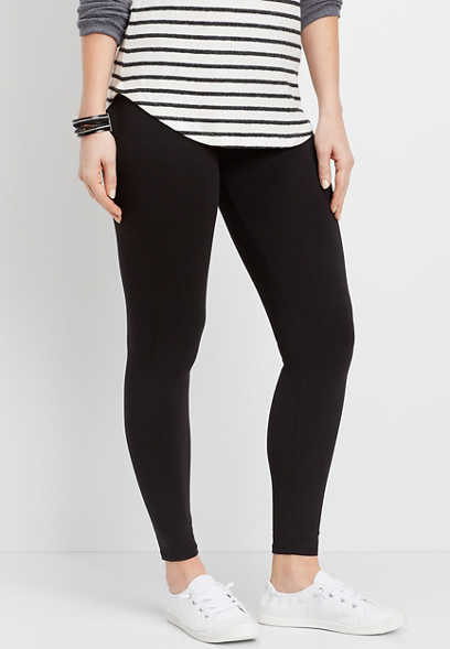 solid cotton stretch legging