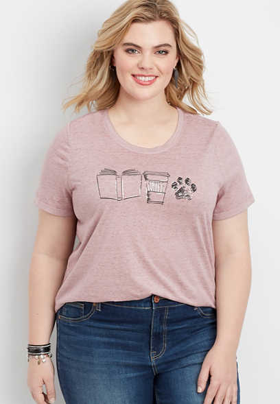 plus size coffee graphic tee