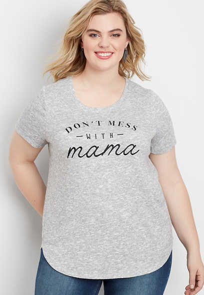 plus size mama graphic tee