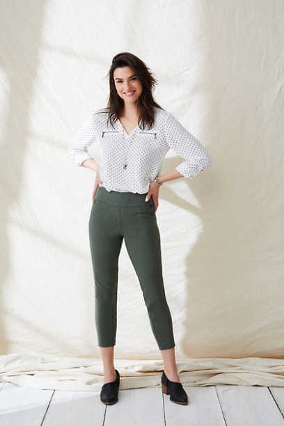 Pull On Bengaline Crop Pant