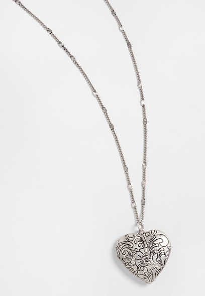 heart locket pendant necklace