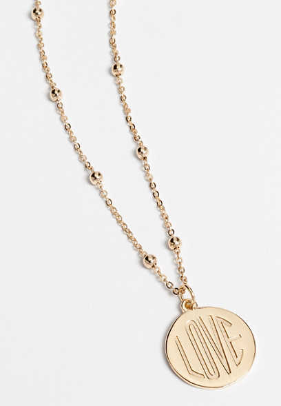 dainty love pendant necklace