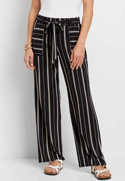 stretch pull on wide leg pant