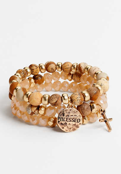 3 piece blessed stretch bracelet