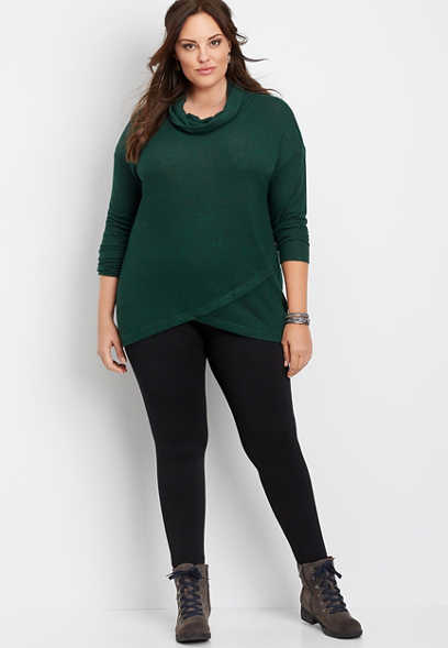 plus size fleece lined legging