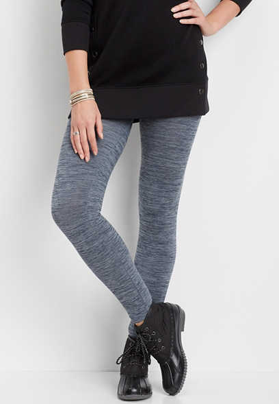 space dye fleece lined legging
