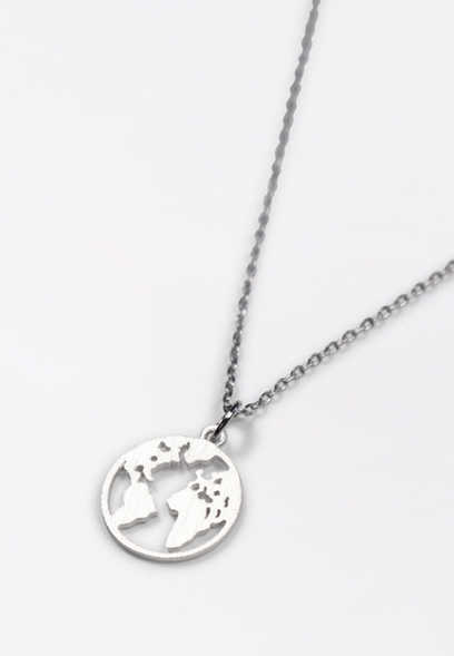 Dainty World Pendant Necklace