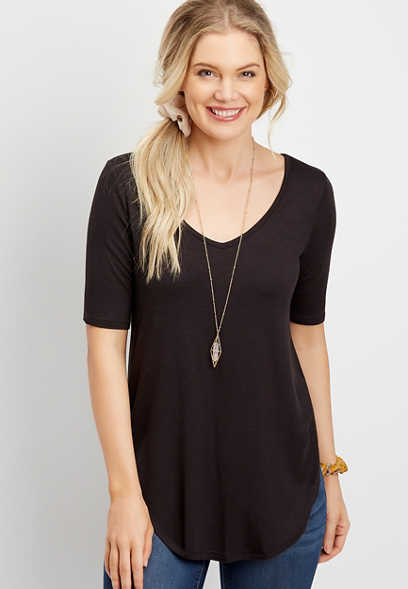 24/7 Flawless Solid Tunic Tee