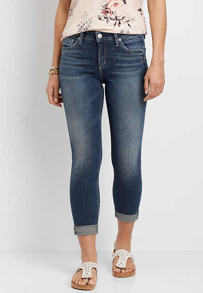 Silver Jeans Co.® Avery High Rise Cropped Jean