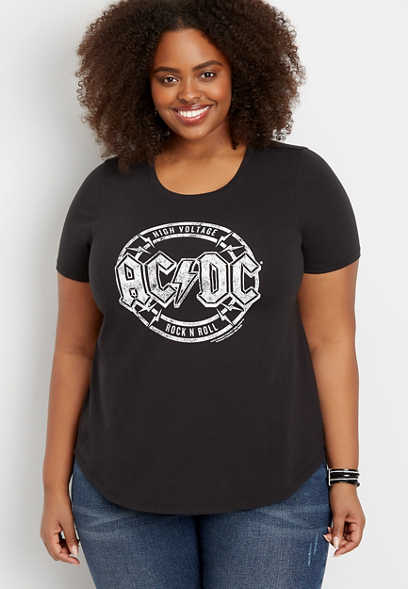 plus size ACDC graphic tee