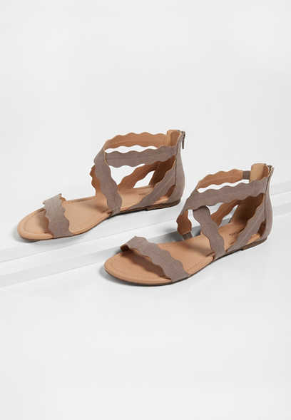 Piper Scallop Gladiator Sandal
