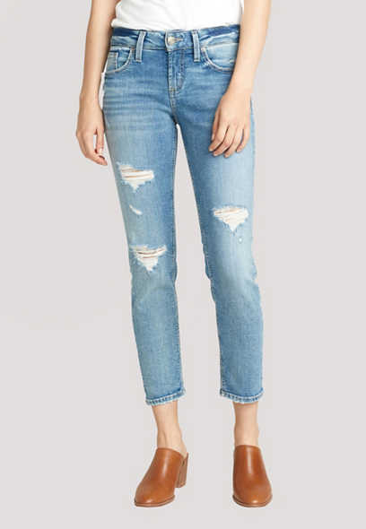 Silver Jeans Co.® Medium Destructed Boyfriend Jean