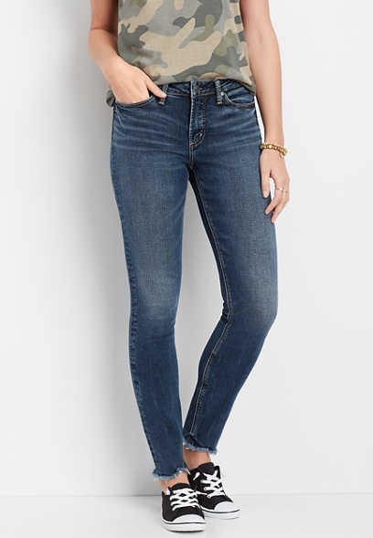Silver Jeans Co.® Most Wanted Frayed Hem Skinny Jean
