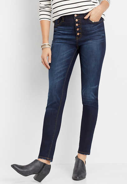 KanCan™ curvy high rise button fly skinny jean