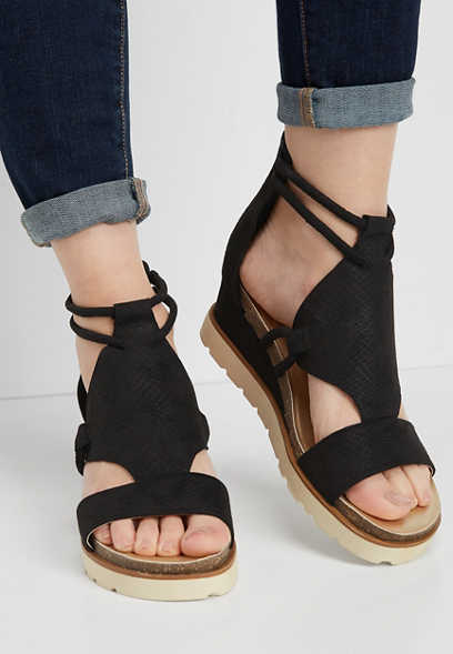 Hallie sporty platform wedge