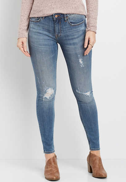 Vigoss® jagger classic fit destructed skinny jean