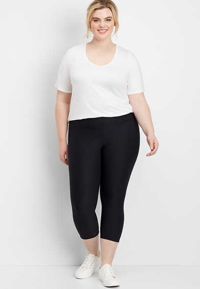 plus size active capri legging