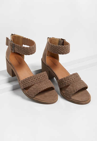 Hope Braided Block Heel Sandal