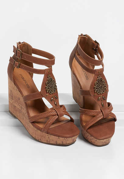 Heather Embellished Wedge