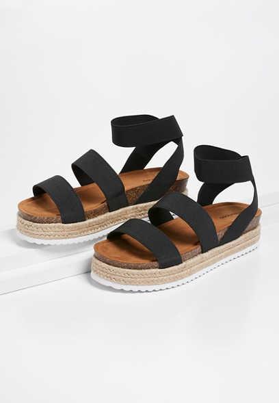 Harmony elastic platform sandal